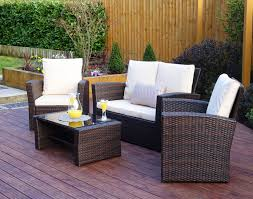 4 piece algarve rattan sofa set in brown includes free protective cover