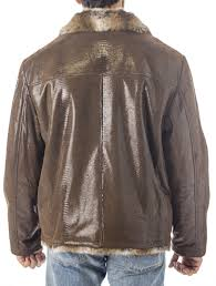 reed men s sheep skin leather jacket shearling style
