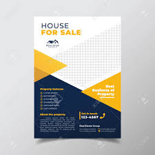 Business Flyer Design Templates Geometric Real Estate Brochure Design Template Business Flyer