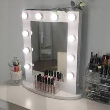 image is loading white hollywood makeup vanity mirror with light aluminum
