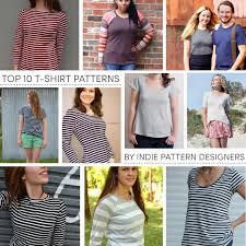 Indie Sewing Patterns Custom Top 48 TShirt Patterns By Indie Sewing Pattern Designers Baste
