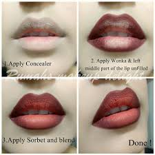 how to do ombre lips makeup tutorial step