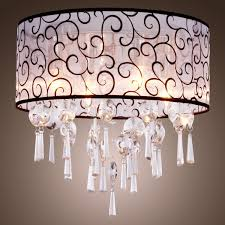 drum chandelier with crystals pendant drum light drum pendant shade