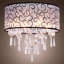 drum chandelier with crystals pendant drum light drum pendant shade