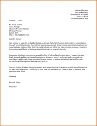 10 Internship Cover Letter Examples Lease Template Throughout