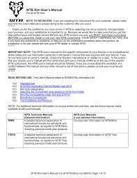 Wtb Rim User S Manual