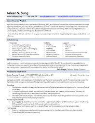 Web Analyst Resume Sample Resume Samples For Experienced Finance Professionals New Pri Senior 57