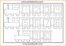 Kindergarten 3 Number Tracing Worksheets | Media Resumed ...