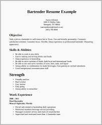 Examples Of Bartending Resumes Sample Bartender Resume 2018