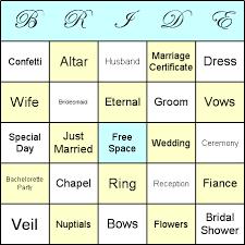 Wedding Bingo Words How To Play Bridal Shower Bingo