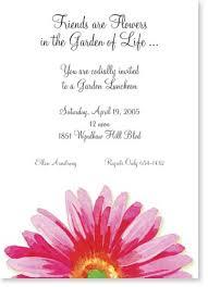 Imprintable Baptism Invitations Gerber Daisy Bridal Shower Invitations Gerber Daisy Shower