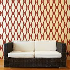 Wall Stencil Patterns Enchanting Beaded Pattern Wall Stencil For Painting Contemporary Wall