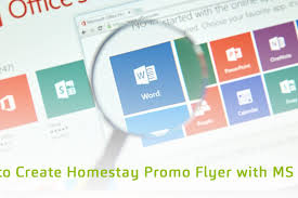 How To Create Homestay Promo Flyer With Ms Word Softinn Knowledge Base