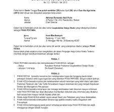 Kami sarankan kepada anda untuk tetap mencari contoh format surat perjanjian kontrak kerja karyawan yang lain sebagai second opinion anda. Contoh Surat Kontrak Kerja Model Contoh Surat
