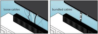 tips for home a v cable management loose versus bundled cables under a tv