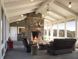 rustic fireplace decorating ideas porch rustic with vaulted ceiling ceiling lighting fireplace mantel