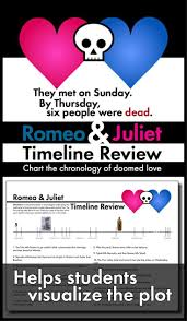 best images about romeo and juliet romeo and romeo and juliet timeline review worksheet use shakespeare s play
