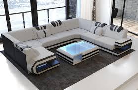 Details About Polster Wohnlandschaft Sofa Ragusa U Form Designer Couch Polstersofa Led Modern