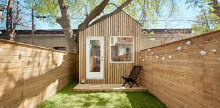 backyard office shed. Architect Builds A Tiny Studio In His Backyard To Be Closer Child Office Shed