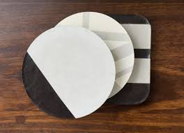diy painted concrete coasters with black