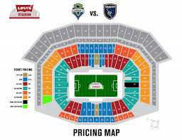 Levis Stadium Seating Chart Seattle Sounders Seating Chart Seating Chart