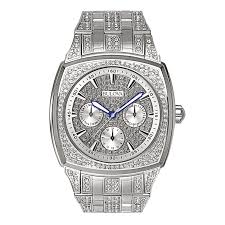 bulova watches men s women s bulova watches from zales men s bulova chronograph crystal accent watch model 96c002