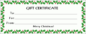 Printable Christmas Certificates Blank Christmas Gift Certificate Template doyadoyasamos 8