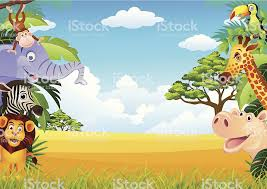 jungle animal background. Beautiful Background Cartoon Background Of Jungle Animals Royaltyfree Cartoon  Stock Vector Art Intended Jungle Animal Background L