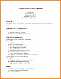 Retail Resume Objective Teller Resume Sample