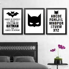 2018 batman quote canvas art print poster wall pictures for home decoration black and white prints wall decor art frame not include from yong518  on wall decor prints with 2018 batman quote canvas art print poster wall pictures for home