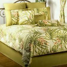 com mkxi soft cotton reversible duvet cover white green leaf