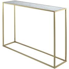 convenience concepts gold coast faux marble top console table in gold