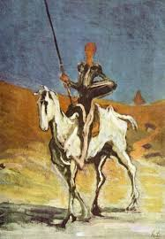 don quixote and what type of charcter he portays writework don quijote and sancho panza drawn by honoratildecopy daumier