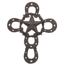 picture 1 of 1 on horseshoe wall art star with ferriers cross horseshoe star wall art rustic cast iron decor