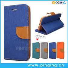 china denim leather flip cover phone case for iphone 6 6s china leather case leather phone case