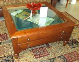 1 shadow box coffee table used furniture gallery ethan allen square turner for living space ebay black