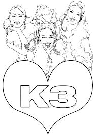 Kleurplaten K3 Prinsessen