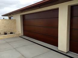 dark brown garage doorsBest Design of Modern Garage Doors Made of Wooden Material in Dark