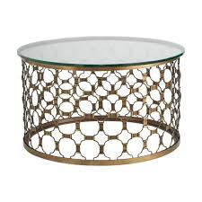 round coffee table wood and metal naomi 30inch round coffee table elegant gold metal round top