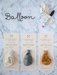 diy sharpie balloon save the date invitation
