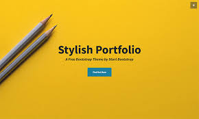 stylish page stylish portfolio one page bootstrap portfolio theme start bootstrap