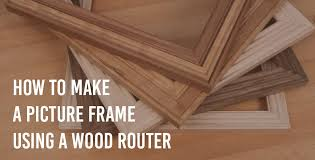 how to make a picture frame using a wood router