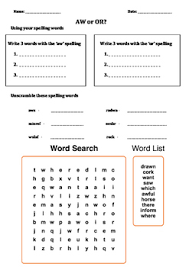 Phonics worksheets what sounds do you hear? Aw Sound Worksheets Teachers Pay Teachers