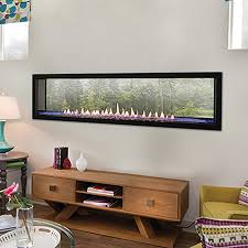 play see through gas fireplace95
