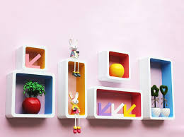 Coloured Floating Shelves Classy Floating Wall ShelfDecor Colourful 32 Pieces [Wall ShelfColorful