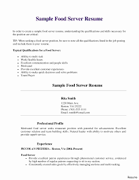 Restaurant Server Resume Example Awesome Waitress Within - Sradd.me