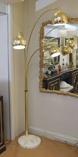 midcentury modern three arm arc lamp in brass with marble for sale brass arc lamp r46
