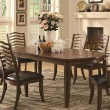 coaster furniture avery cal dining table with two table leaves 103541