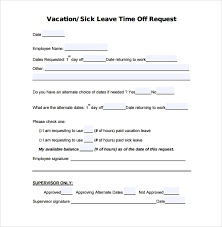 Sample Time Off Request Form 23 Download Free Documents