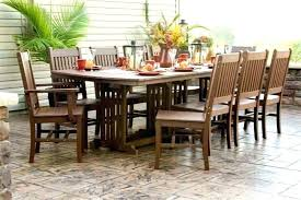 long patio table outdoor dining wood furniture incredible chairs wooden davenport 7 piece p